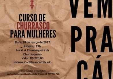 Aberta a temporada oficial de cursos de churrasco para mulheres com Clarice Chwartzmann