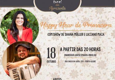 CCH é parceira do El Tonel Parrilla em ação com show de Shana Müller e Luciano Maia