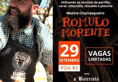 Romulo Morente chega a Porto Alegre neste sábado para curso de fogo de chão